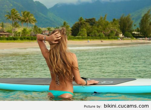 Bikini Swallowing Wet by bikini.cucams.com