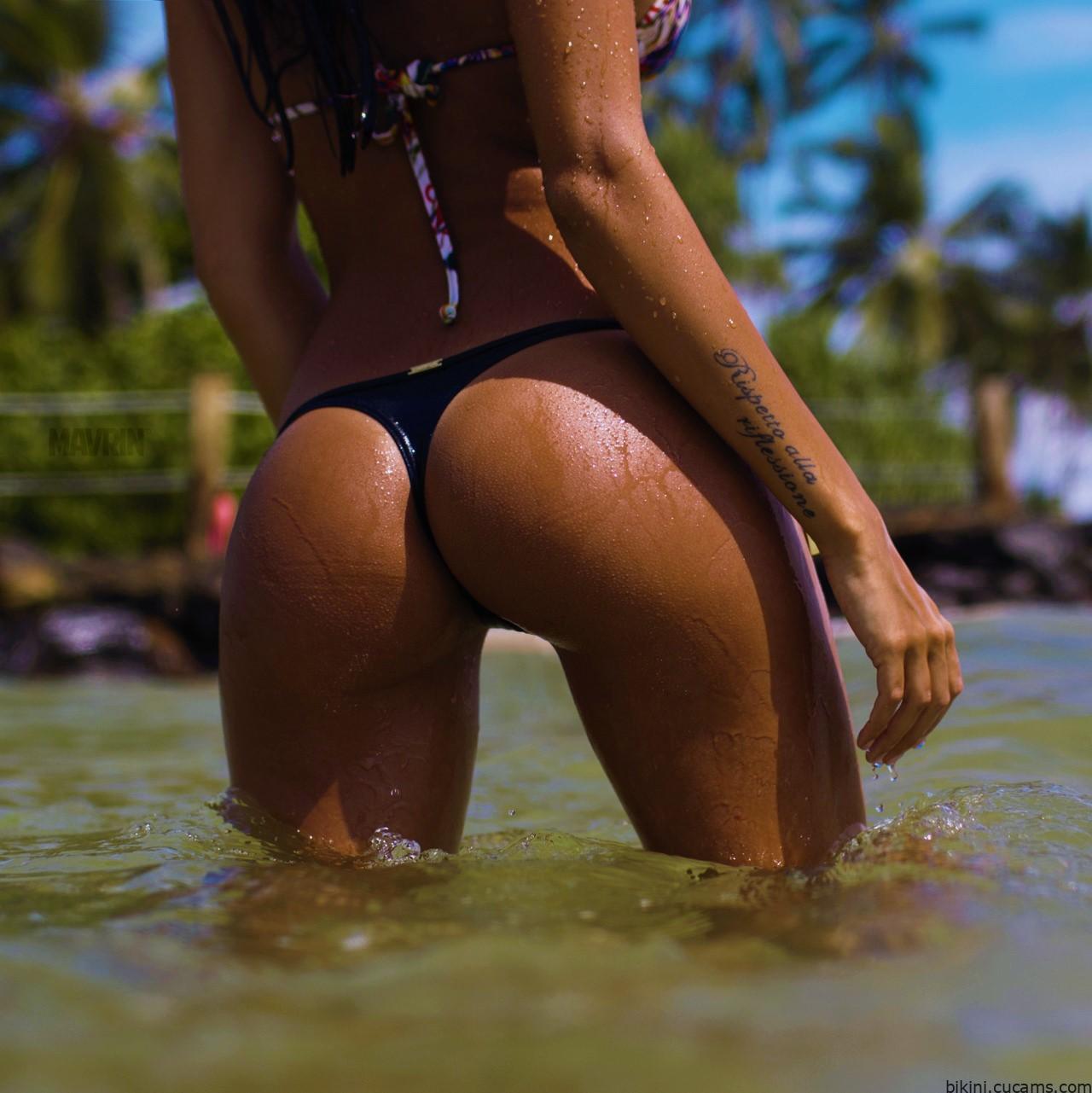 Bikini Oiled Head by bikini.cucams.com